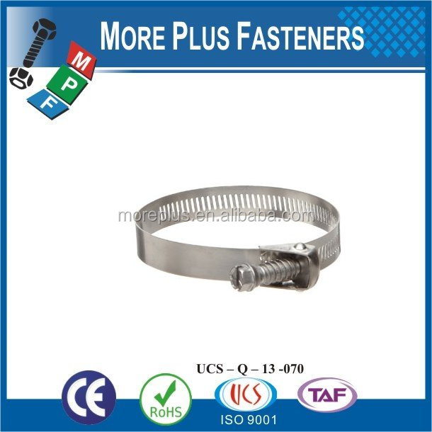 Made in Taiwan Stainless Steel german type hose clamp types of hose clamps quick release