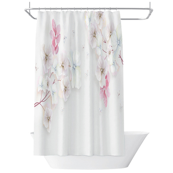 Chinese Shower Curtain Flower Dance Butterfly Partition Curtain Thickening Suit, Polyester Waterproof Bathroom Shower Curtain /