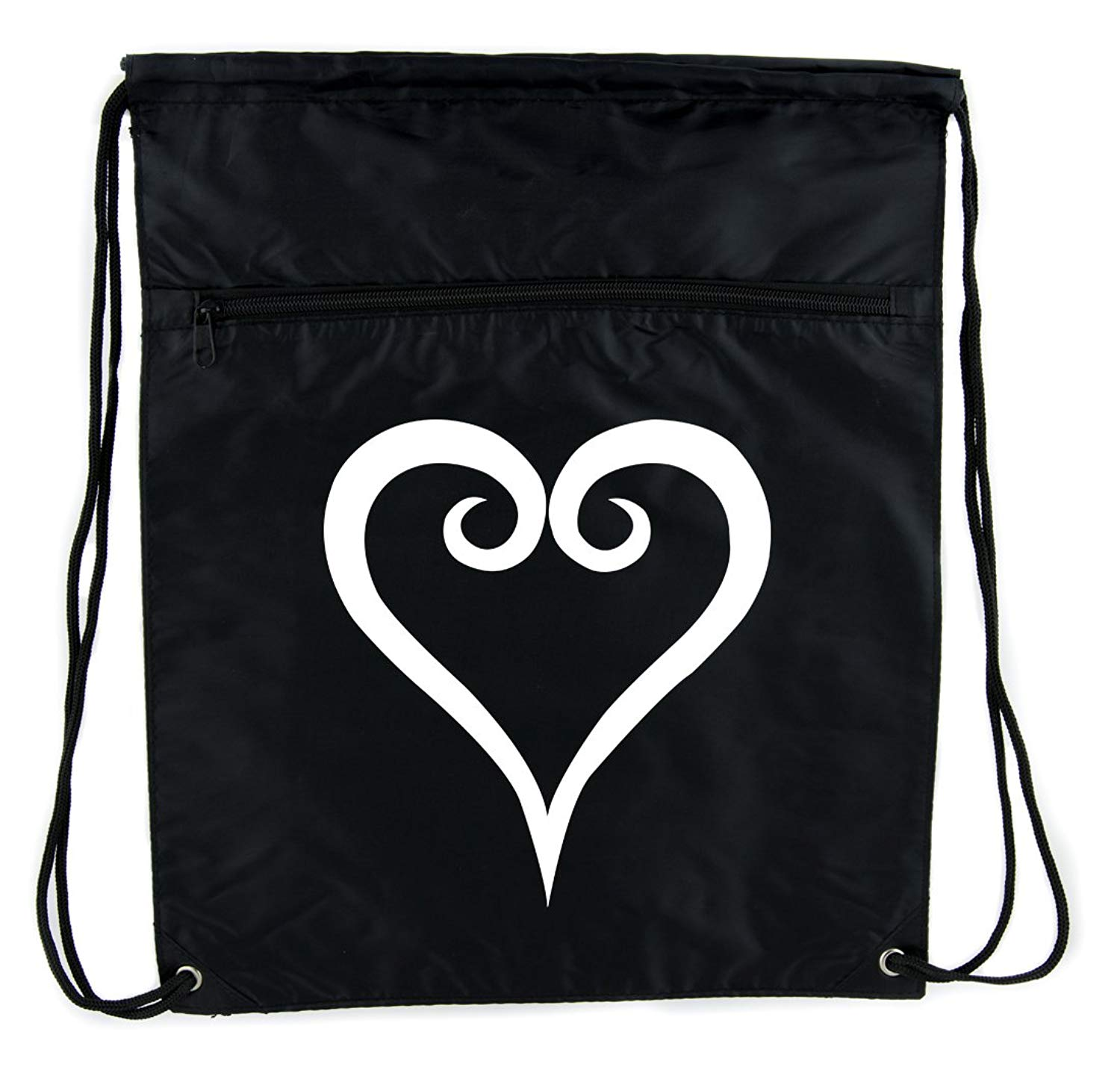 c296003d0d Get Quotations · Kingdom Hearts Style Cinch Bag Drawstring Backpack Anime  Gaming Alternative Clothing
