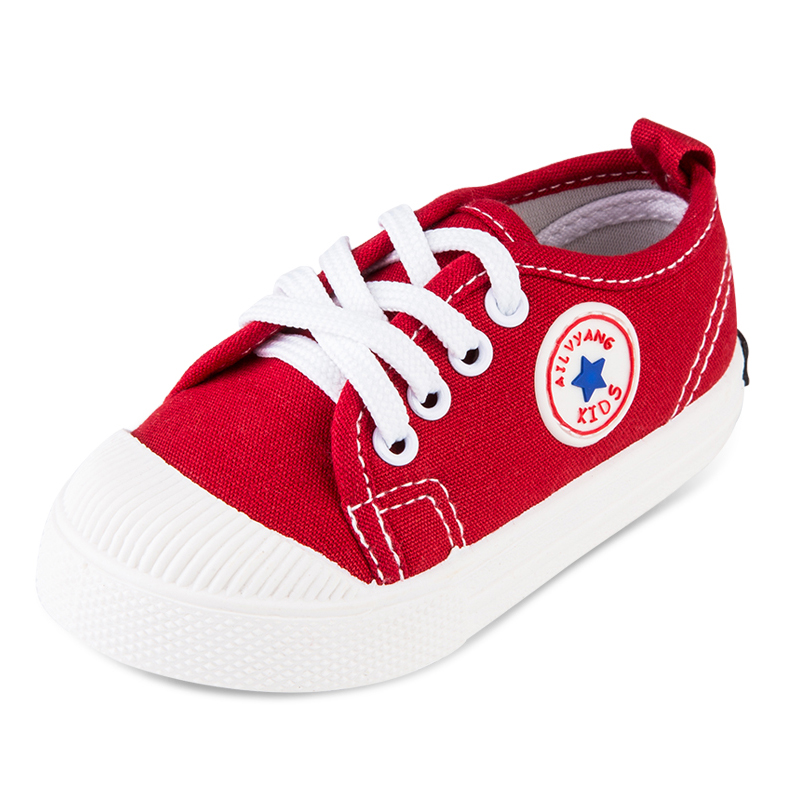 2016 spring child canvas shoes sneakers male female childbaby cloth toddler shoes 1 3 years old