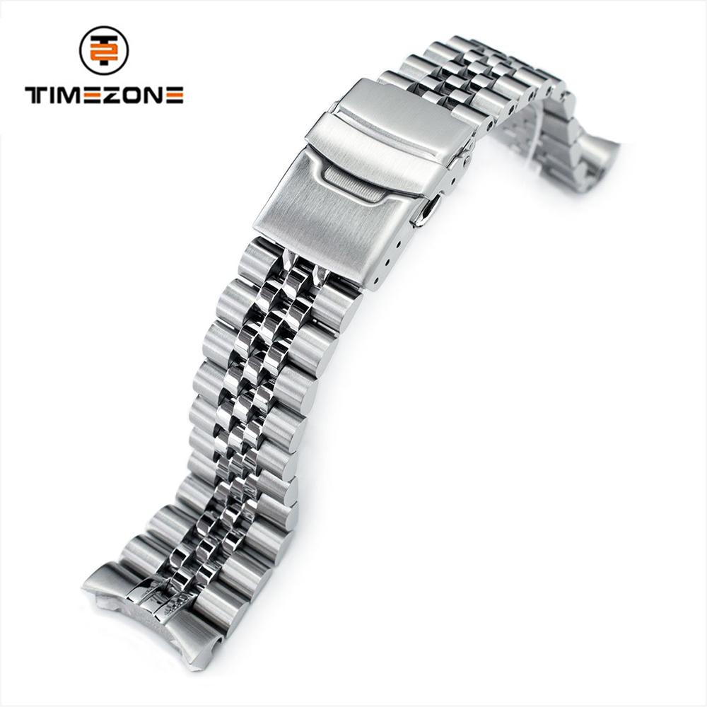 22mm Super 3D Jubilee 316L Stainless Steel Watch Band SKX007 bracelet diver extension