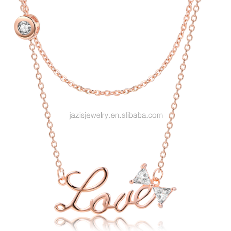 2018 Fashion Jewellery Wedding Gold Plated Love Necklaces New Gold Chain Design Girls Picture Buy At The Price Of 2 25 In Alibaba Com Imall Com