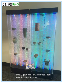 Customized Lighted Water Bubble Wall Design Bar Shelves