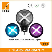 6inch Jeep spotlight off road led 60w for jeep wrangler accessories