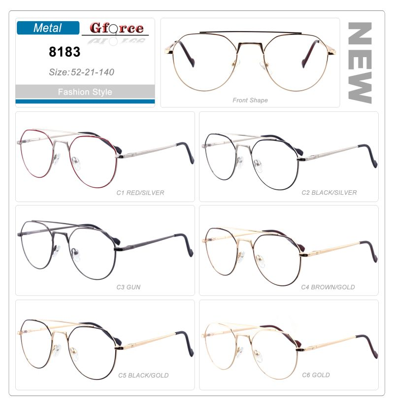 new arrival hot selling high quality spring hinge design cheap style women metal optical eyeglasses frames
