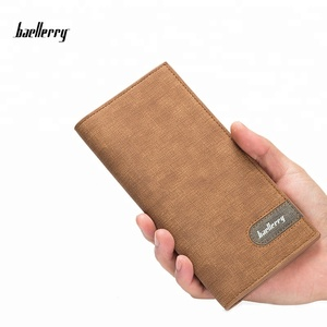 Baellerry New Arrival PU Leather Purse Long Men's Wallets Multifunctional Card Holder Purses Boy Student Money Clips Wallet