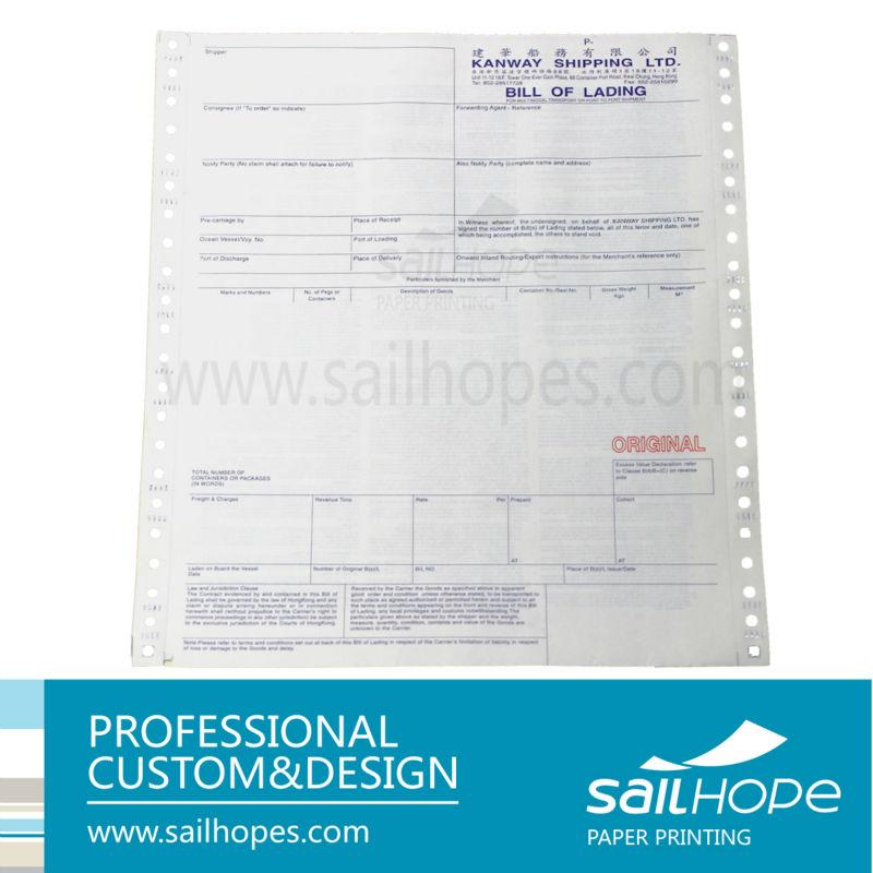 Manufacture Printing Nice Image Standard Ocean Bill Of Lading Buy