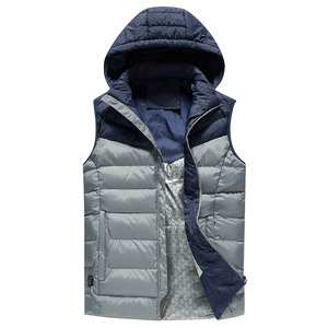 Custom Winter Sleeveless down vest in two tones combined