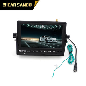 Rearview 7 Inches Quad Function Car Wireless Camera System with DVR for Trailers