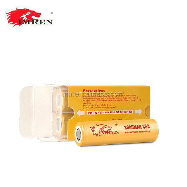 New arrival high capacity IMREN 18650 rechargeable li-mn battery IMREN 18650 3000mah 35A for mods from IMREN