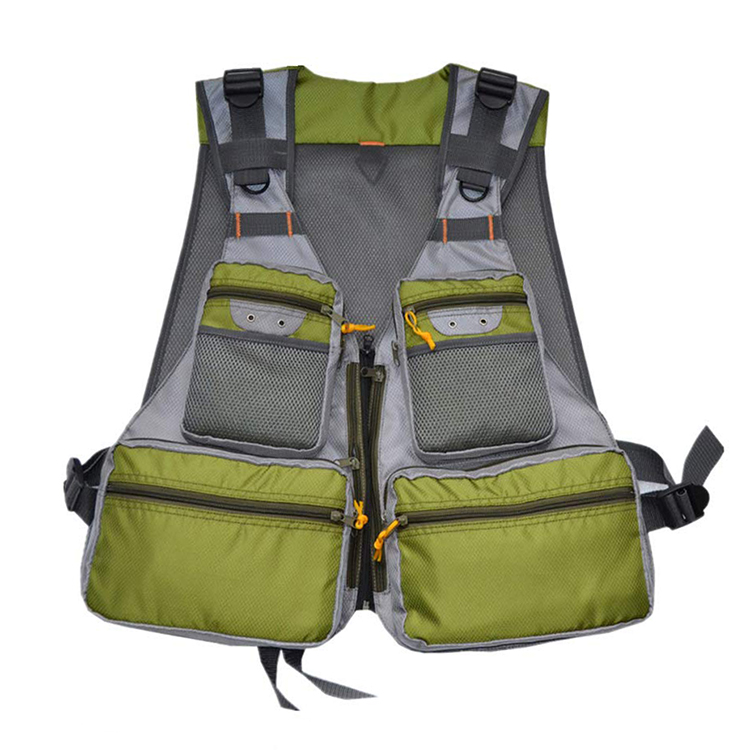 Outdoor Fly Fishing Vest with Multi-Pockets Fishing Jacket Mens Waistcoat for Finishing Travel Photography
