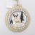 NEW Wooden  Christmas Circular Sculpture Stereo Hangings  Christmas Decoration Hanging