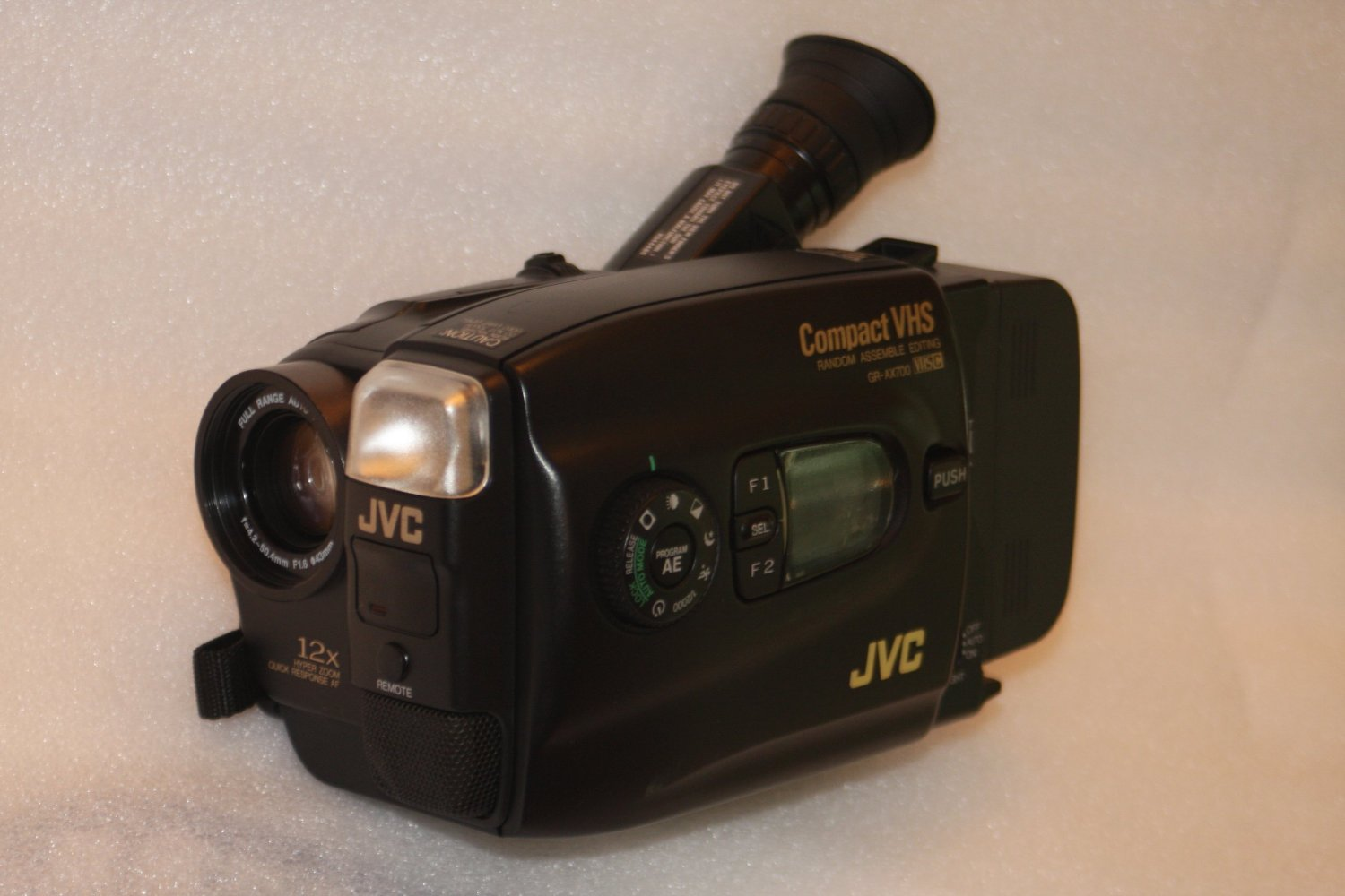 JVC GR-AX700U VHS-C Camcorder with 12x Hyper Zoom and Color Viewfinder
