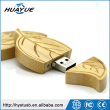 Maple wood leaf usb flash drive leaves shape pen drive 4GB 8GB 16GB 32GB USB 2.0 memory stick for pormo gift