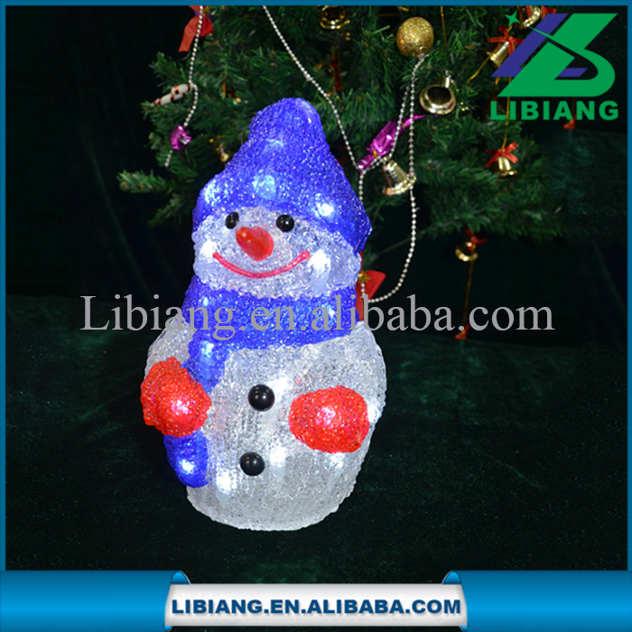 Battery operated led light acrylic snowman christmas gift