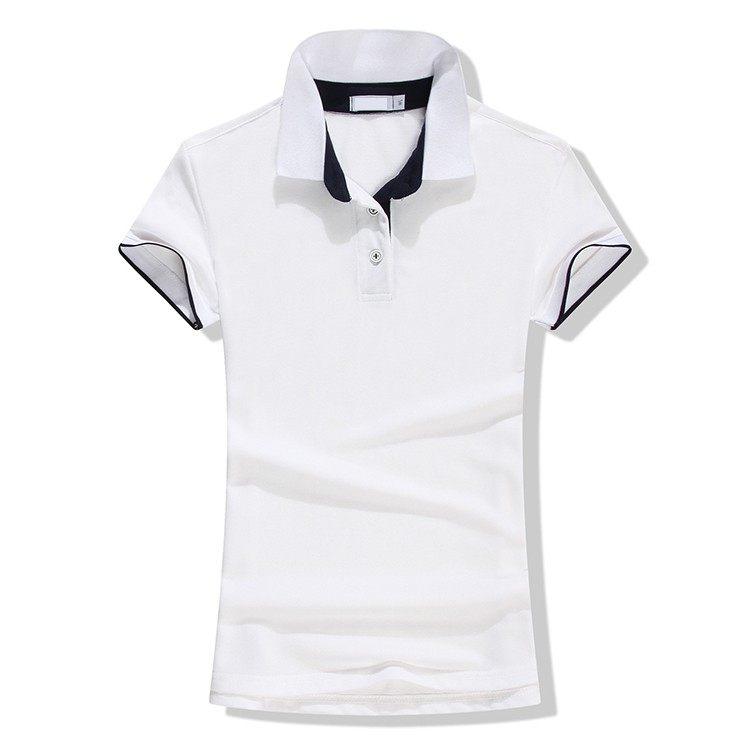 APL062 Custom slim fit polo shirt women golf polo shirt with combination 9f782a658b
