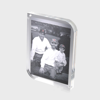 Clear 5 x 7 Tabletop Acrylic Picture Frame Photo Block Frames With Magnetic