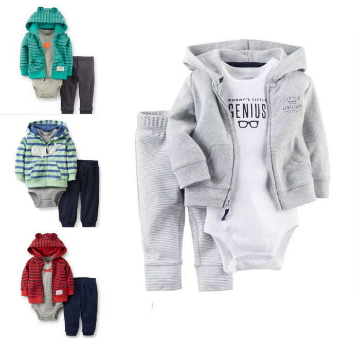 f99101df5 Get Quotations · 3pcs Carters Baby Boy Clothes Set Winter Autumn Romper Boys  Baby Girls Long Sleeve Boys Jumpsuit