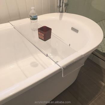 Factory Supply Transparent Acrylic Bath Caddy Bath Tub Tray - Buy ...