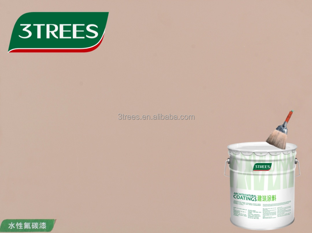 3TREES Hot Sell Pure Color Anti-UV Fluorocarbon <strong>Paint</strong>(free sample)