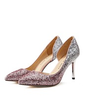 Itallian Sexy Glitter Leather Party And Wedding Shoes