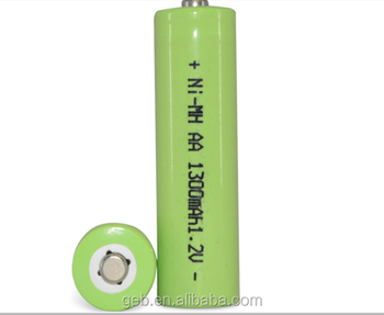 High quality ni-mh aa 1300mah rechargeable battery 1.2v