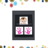 Baby shower favors baby theme hand ink painted wooden picture frame