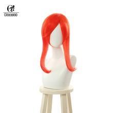Женский аксессуар для волос ROLEOCS LOL Lux, Длинные Синтетические волосы 55 см с хвостиком оранжевого цвета(Китай)