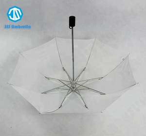 Cheap White Super Tiny 2 Folding Rain Umbrella
