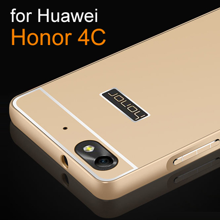 low priced 05ddb 5c0a5 New Luxury slim Phone case For Huawei Honor 4C Case Aluminum Metal Frame +  Acrylic Back Cover Case For Honor 4C