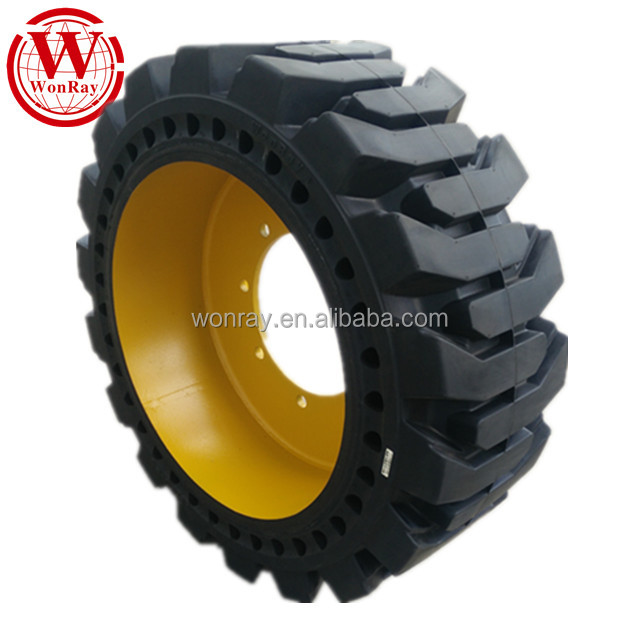 Chinese 10x16.5 pneu bobcat, bobcat skid steer loader solid rubber tires 10-16.5 12-16.5 20.5-25