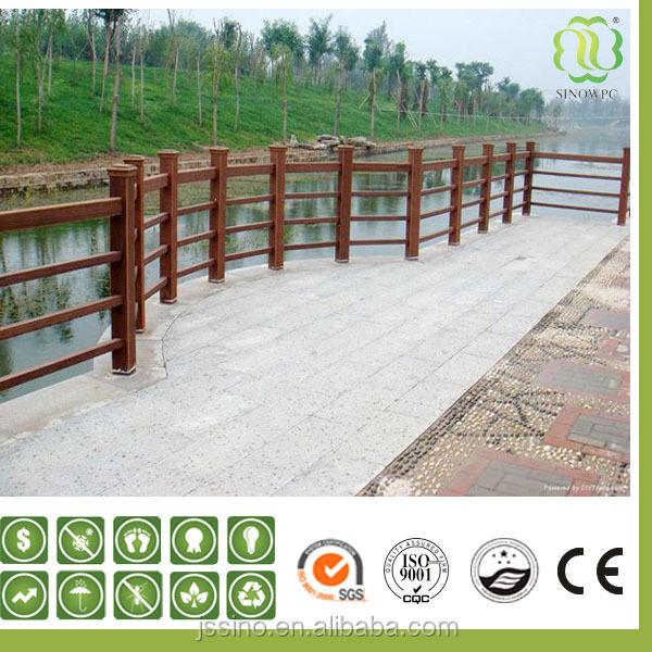 Wpc bois plastique composite balustrade peu d 39 entretien for Escalier exterieur plastique