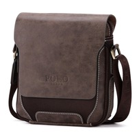 VICUNA POLO 2018 Fashion Brands Man Bag Wholesale V8803-1 Coffee Oxford Frosted Leather Shoulder Strap Bag Men