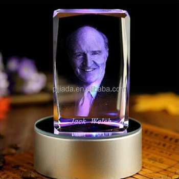 3d Laser Crystal Insiding Carving Cube Glass Crafts Home Decor
