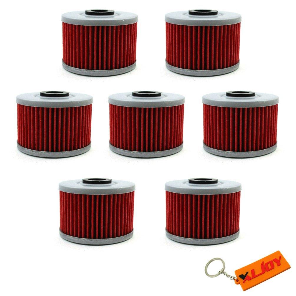 XLJOY 7pcs Oil Filter for Honda NX650 FX650 XR250 Kawasak KLX125 KLX110 KLX300R