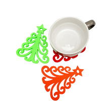 Kerstboom sneeuwvlok plaats mat <span class=keywords><strong>pad</strong></span> mode hol vilt cup <span class=keywords><strong>pad</strong></span> gemaakt in China