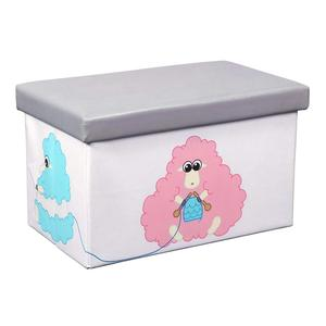 Folding Storage Ottoman footrest Cube With Faux Leather Toy Chest Footrest for Baby kids storage organizer toy storage box