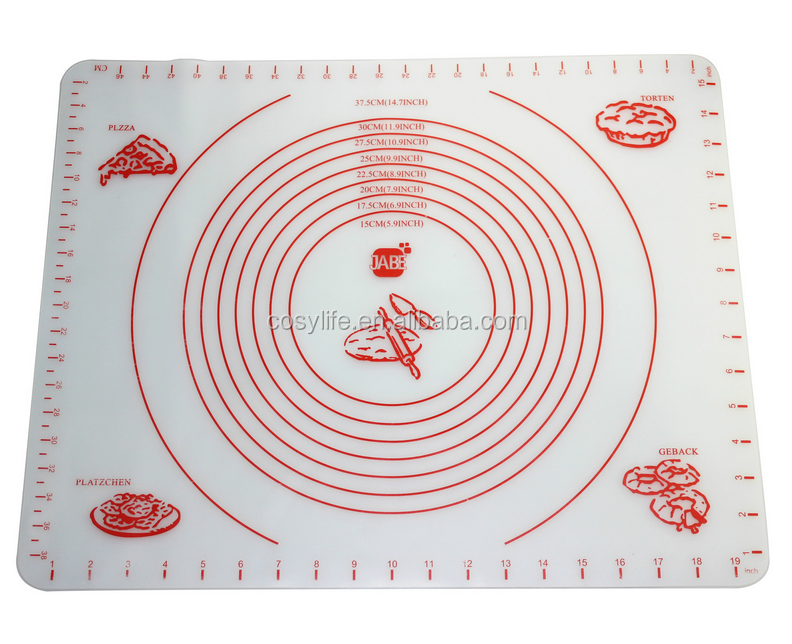 Kitchen Non-slip Silicone Baking Mat Extra Large with Measurements 50''By 40'' for Counter Mat, Dough Rolling Mat