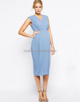 2560e6c96e8 Maternity Gathered Workwear Maxi Dress China Supplier - Buy Pregnant ...
