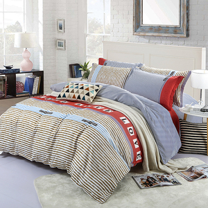 chinese bedding set winter Printed quilt jacket bedsheet set