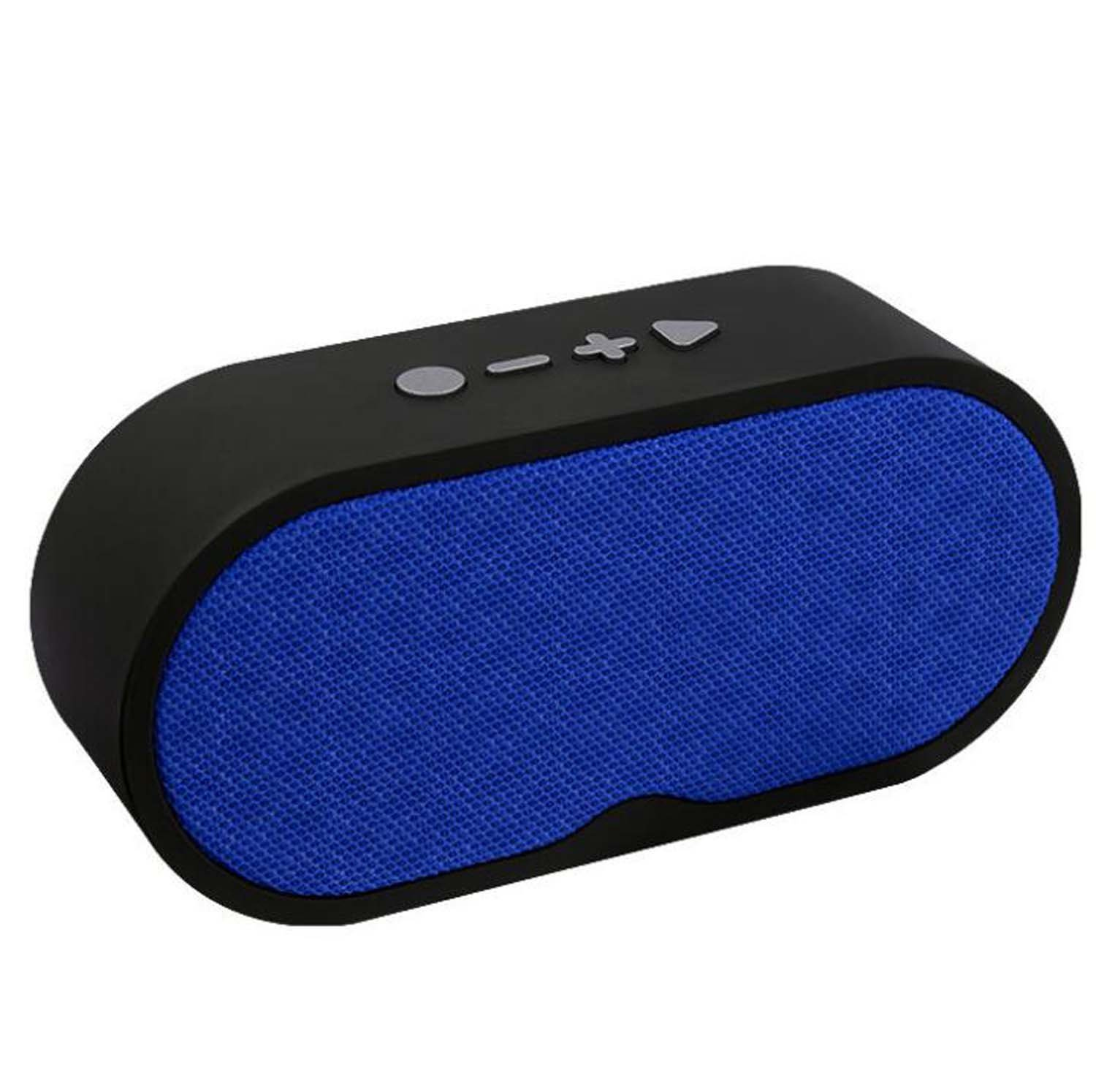 Hzhy Handsfree Bluetooth Speaker Wireless Card Radio Subwoofer Bluetooth Audio Gift (Blue, Black, Red) (Color : Blue)