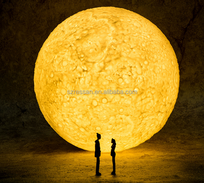 Creative 3D Lunar Light 15cm Charge Touch Patted 3 Color Moon Love Atmosphere Night Light