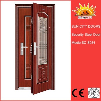 Half Door Designs rogenilan 45 series wood color front door design aluminum one and half door Wooden Wrought Iron One And A Half Doors For House Sc S034