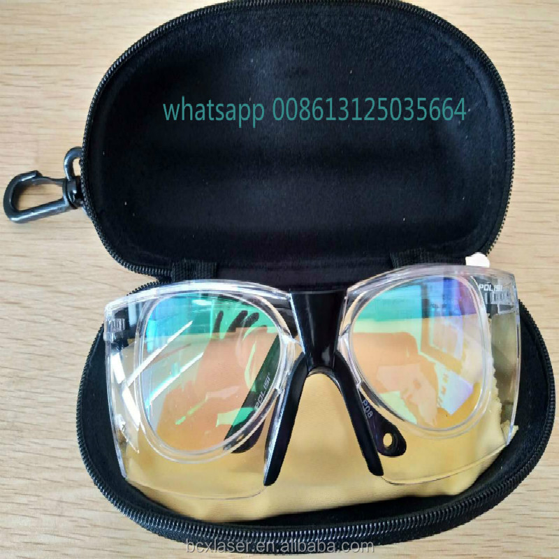 Goggles Professional Protective CO2 Laser 10600nm Eyewear Glasses Goggles Double-Layer with Glasses cloth Case