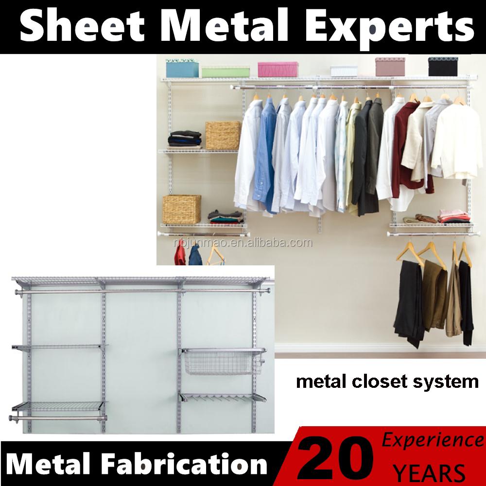 Montaje En Pared Ropa Almacenamiento Muebles De Metal Armario ...