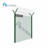 Guangzhou Factory Galvanized PVC or Powder coated Wire Mesh Fence Customization Available