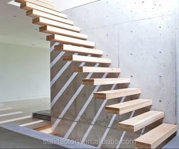Delicieux Modern Floating Stair Floating Wood Stair Thickened Solid Wood Treadsts 334    Buy Floating Staircase,Floating Glass Stairs,Thickened Solid Wood Treads  ...