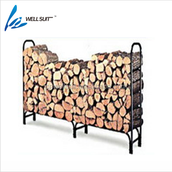 Brennholz Log-Rack, 4-fuß Heavy Duty Outdoor/Indoor Fireside Holz Stapeln Lagerung Inhaber für Kamin Herd Metall Schwarz