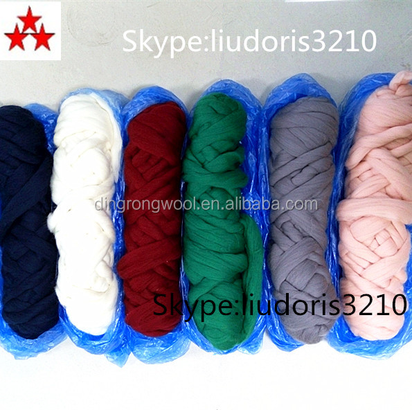 In stock dyed Chinese Australia wool tops different fineness
