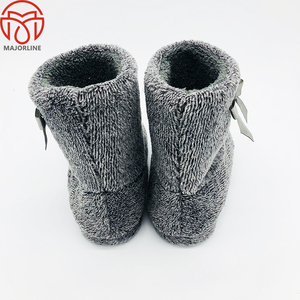 fall winter warm cotton fabric indoor boots for women